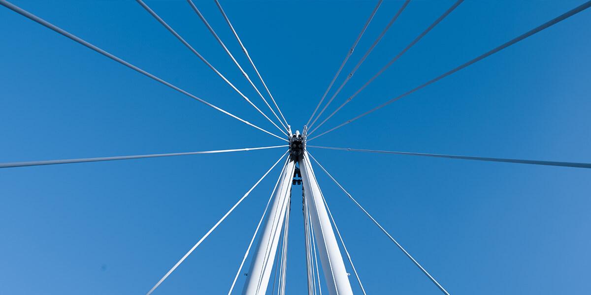 puente de tirante vista en picado