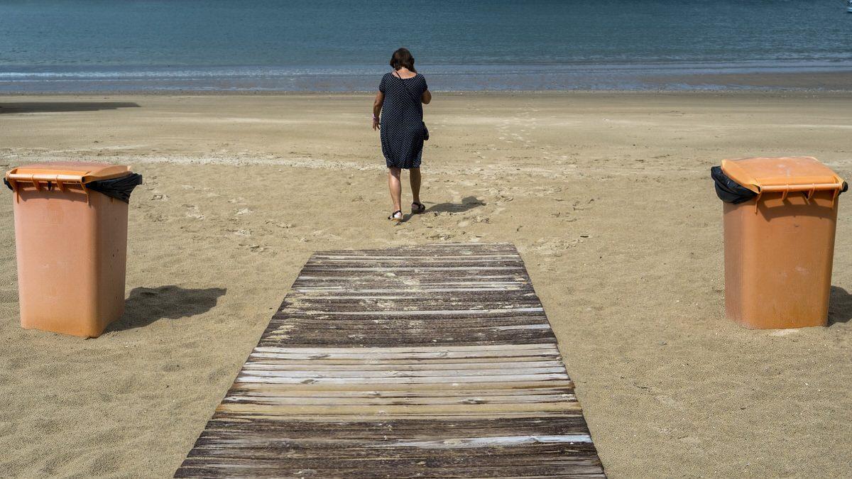 Playa tablas mujer